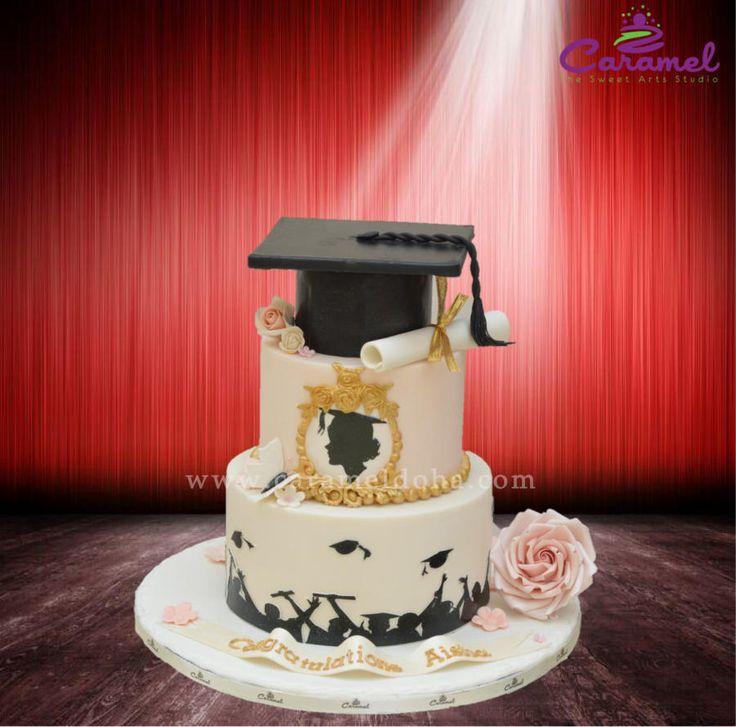 Graduation Cake Ideas For A Girl : Graduation Cake by Caramel Doha Cakes & Cake Decorating ...