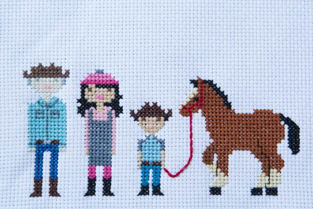 LOVE the cross stitch family portrait! DOING THIS!!