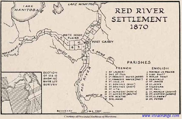 Stories of my Ancestors: RED RIVER SETTLEMENT MAP