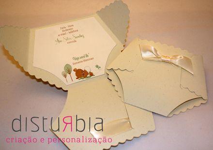 Convite chá de bebê - Chá de fraldas - Ribeirão Pires - Produtos prontos
