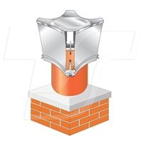 The Smart Vent prevents foreign bodies entering the chimney and is designed to increase updraught and reduce downdraught. The closed upper surface of the terminal impedes the downward movement of wind which might otherwise create a down draught within the chimney.  #smartvent, #brewercowl, #chimneycowl,