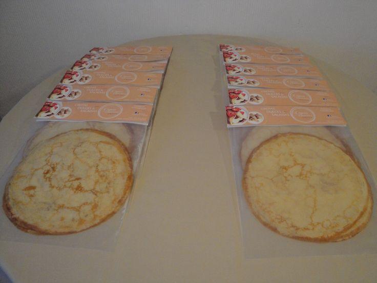 Paquetes con 5 y 10 Crepas Caseras dulces y saladas, listas para calentar.