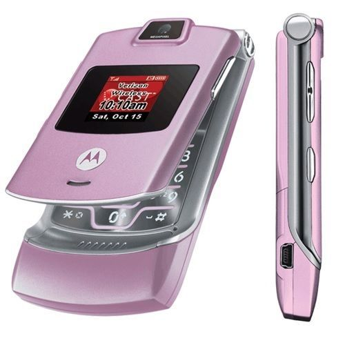 Motorola-RAZR-V3m-Pink-Verizon-CDMA-Mobile-Phone-Bluetooth-Camera
