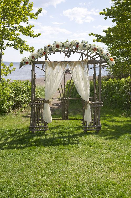 Rustic arch wedding ideas Pinterest