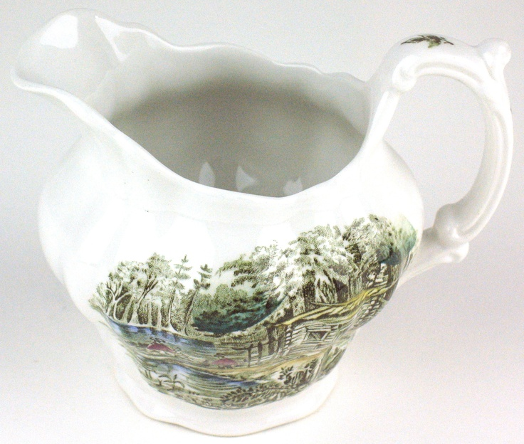 """Heritage Pattern by Ridgway Pottery - creamer - 3 3/4"""" tall - A Shanty on Lake Chaudiere"""