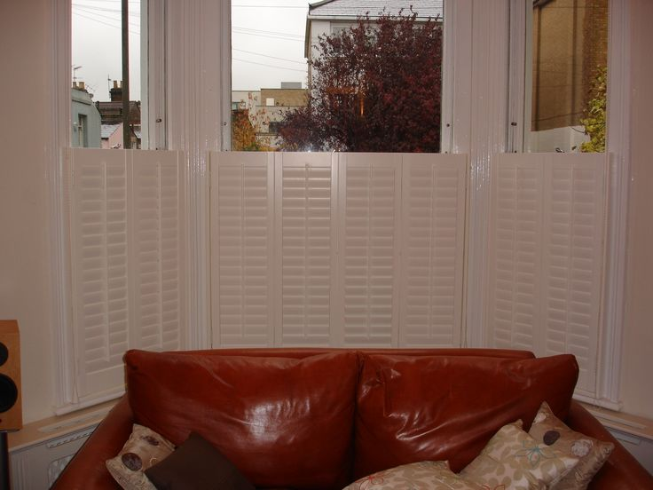 Cafe style #Shutters after, closed. Ideal for those who wish to have subtle privacy.