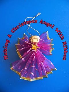 A Pretty Talent Blog: Making A Christmas Angel Ornament With Ribbon