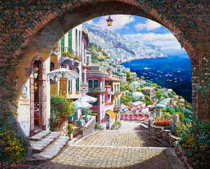 My fave place on earth positano mural wallpaper if we for Earthrise mural