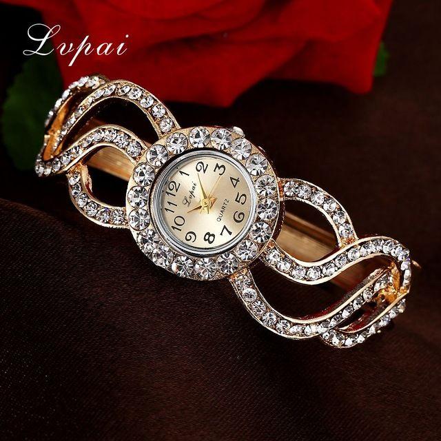 Lvpai Frauen Uhren 2016 Strass Armband Armbanduhren Fashion Classic Ladise Uhren Luxus Vintage Handgelenk Kleid Quarzuhr