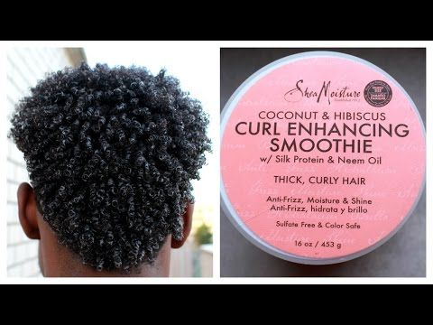 How To Curl Your Hair With Shea Moisture Smoothie Curling Cream - Tutorial - YouTube