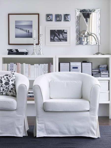 Have a seat! With its slim lines, the EKTORP TULLSTA is easy to place anywhere. WANT for my coffee nook.