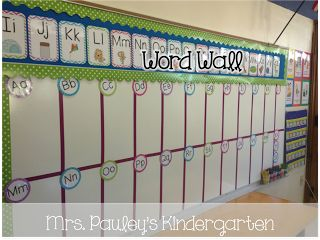 Revamp mine to look like this with the red dividing lines!    Mrs. Pauley's Kindergarten: Classroom Tour