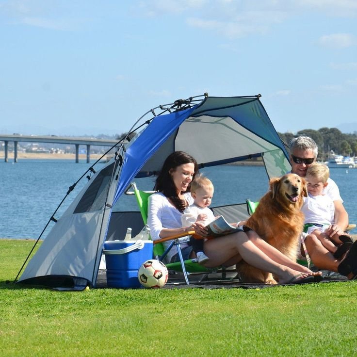 Beach Shade Tent Pop Up Canopy Portable Camping Cabana Outdoor Sun Wind Shelter #BeachShadeTent