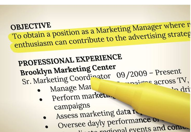 Resume with objective