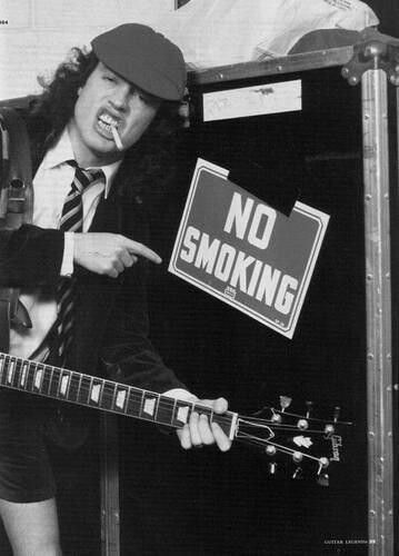 Angus Young- AC/DC. We Will Rock You.