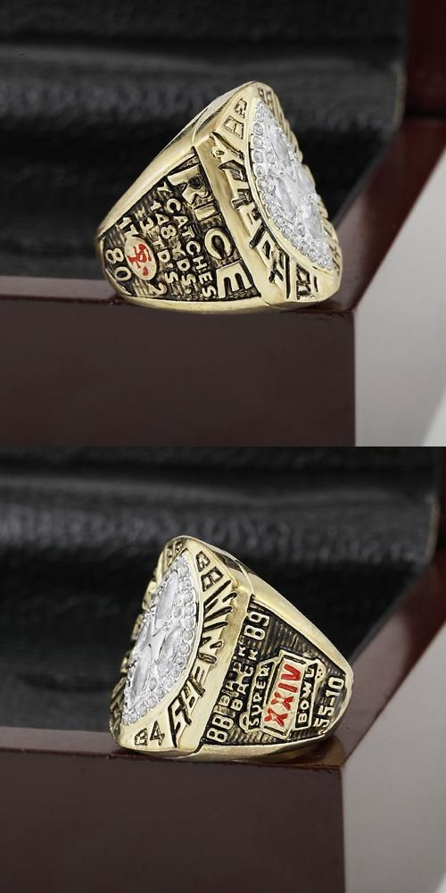 [Visit to Buy] Solid 1989 San Francisco 49ers Super Bowl Football Championship Ring 10-13Size With High Quality Wooden Box Best Fans Gift #Advertisement