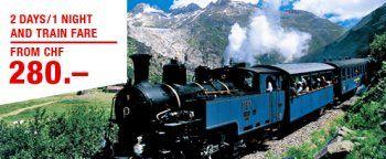 Furka steam railway.