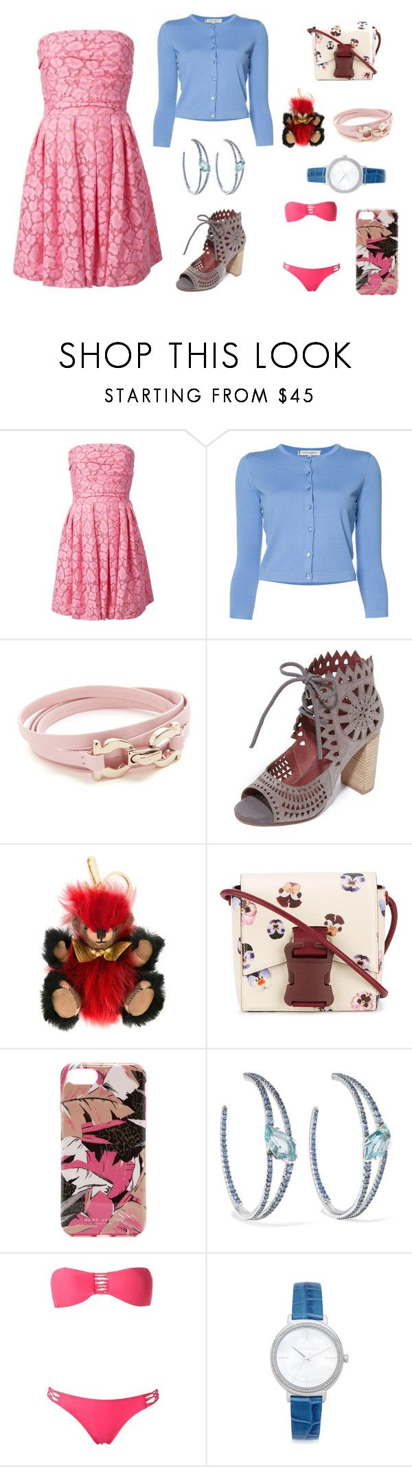 """""""Shoppers stop"""" by camry-brynn ❤ liked on Polyvore featuring Moschino Cheap & Chic, Carolina Herrera, Salvatore Ferragamo, Jeffrey Campbell, Burberry, Christopher Kane, Marc Jacobs, Alexis Bittar, SUB and Michael Kors"""