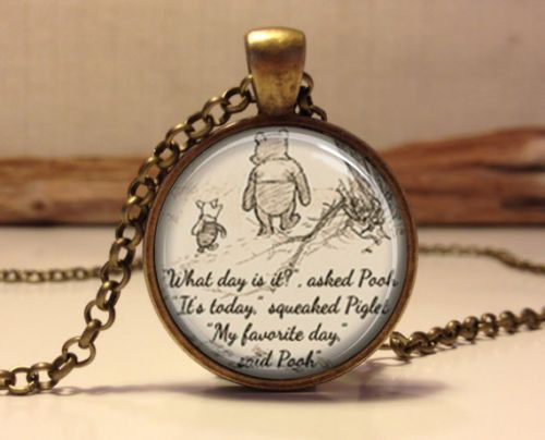 Winnie The Pooh Quote Cabochon Necklace – Top Notch Products  Be inspired with this Winnie The Pooh Quote Necklace  ★ 50% OFF ★ and FREE SHIPPING Limited Time Only!  Get it NOW ==> http://mytopnotchproducts.com/products/winnie-the-pooh-quote-cabochon-necklace  TAG a friend who would also like one.