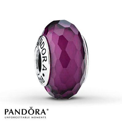 Jared - Pandora Glass Charm Purple Sterling Silver