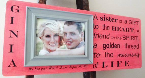 ... Frame Wedding Birthday Gift: Gifts Bridesmaid, Sisters Bridesmaid
