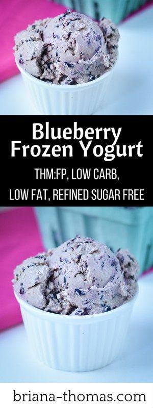 Blueberry Frozen Yogurt - THM::FP, Low Carb, Low Fat, Refined Sugar Free, Gluten/Egg/Nut Free
