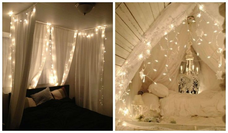 23 Amazing Canopies with String Lights Ideas Bedrooms, Home and Ceilings