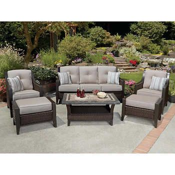 Cordova 6 Piece Deep Seating Set All Weather Wicker Is