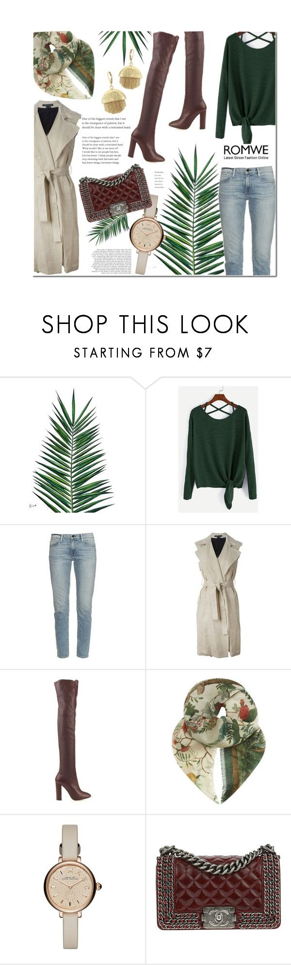"""ROMWE Contest #93"" by mfardilha ❤ liked on Polyvore featuring Nika, Frame, Theory, Aquazzura, Gucci, Marc by Marc Jacobs, Chanel and Vince Camuto"
