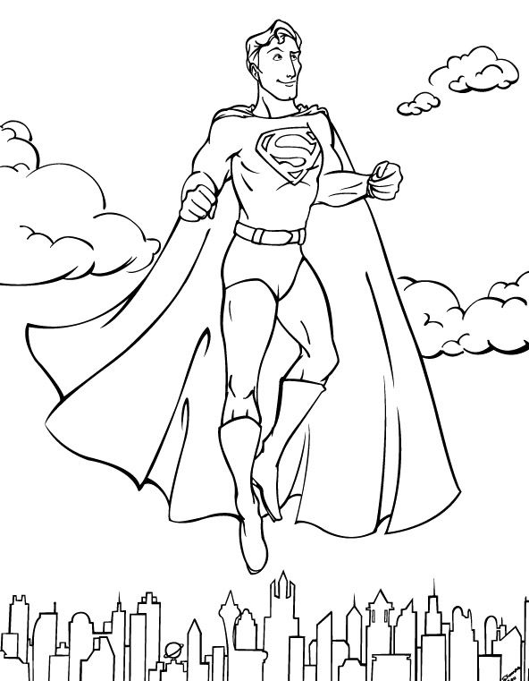 The 30 best Superman images on Pinterest | Coloring pictures for ...