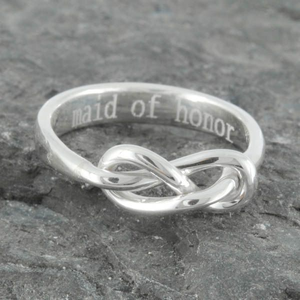 Infinity ring, maid of honor gift, maid of honor, best friend, promise,personalized, friendship, sisters, mother daughter, Bridesmaid Gift by JubileJewel on Etsy