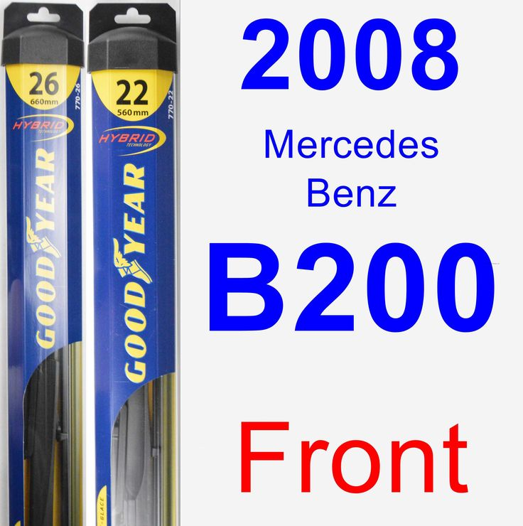 Front Wiper Blade Pack for 2008 Mercedes-Benz B200 - Hybrid