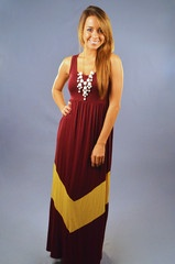 Tailgating Time Maxi Dress: Burgundy- PERFECT for FSU games!