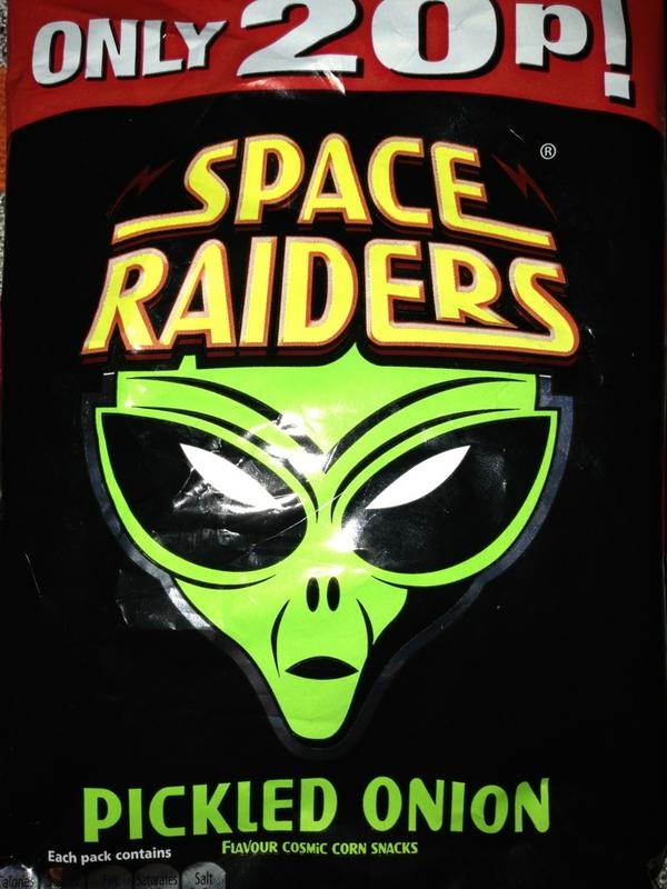 Space Raider Crisps. I can vouch that these are still 20p!