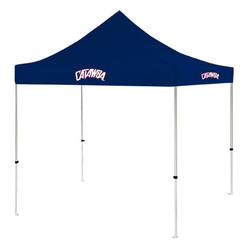 Essential for events or outdoor recreation, this convenient tent provides you and your guests with relief from the sun's harsh rays - so everyone can enjoy the day! It's also ideal for tailgating, and will last for game after game!,Heavy duty steel frame and high quality canopy,Screen printed logo,Includes carry bag and stakes,Easy setup and take down,Dimensions: 9 x 9, 6in clearance from valance to ground