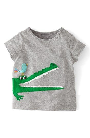 Mini Boden Animal Appliqué T-Shirt (Baby Boys) available at #Nordstrom