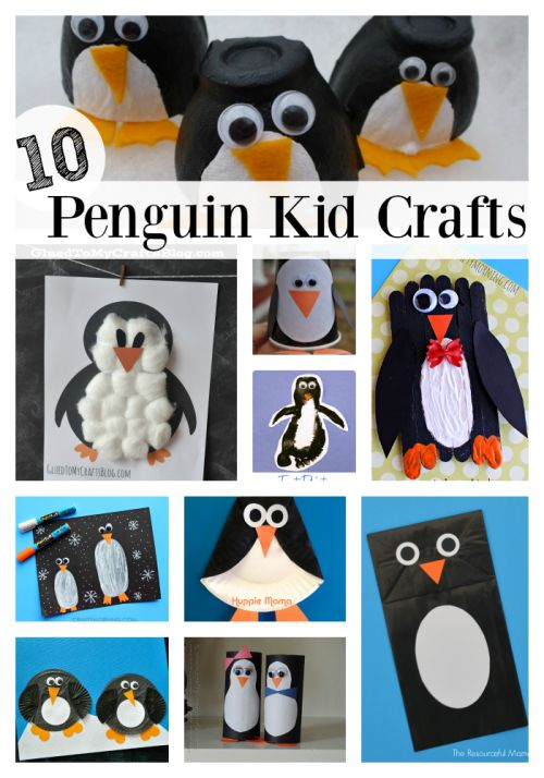 Top Ten Penguin Crafts for Kids- BY: KIM..I searched Pinterest for some inspiration. These are our favorite top ten penguin crafts for kids.