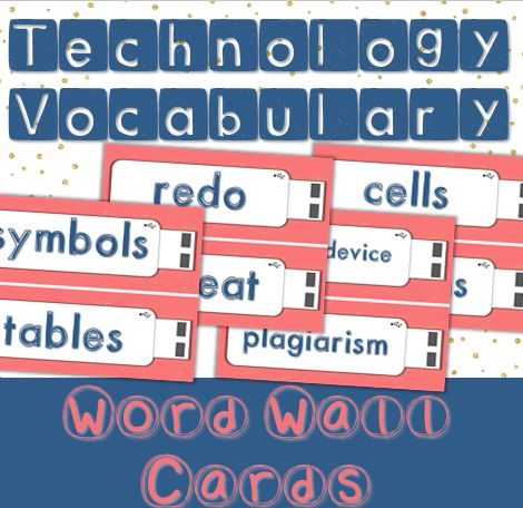 Your computer lab can be stylish too! Technology Vocabulary Word Wall cards for the computer lab. 140 words included. $