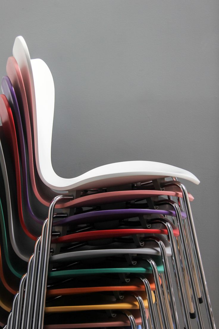 Republic of Fritz Hansen - San Francisco store. Series 7™ beautifully stacked