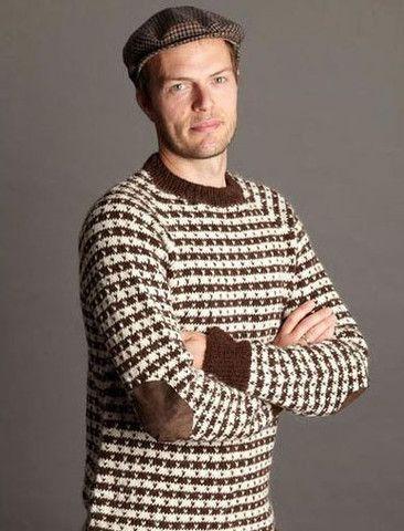 Klassisk sweater med lus i Lamauld garn fra SelvStrik.dk