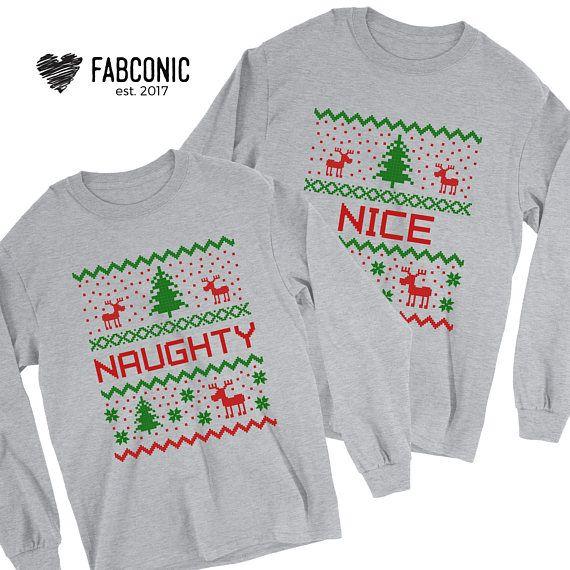 Ugly Christmas Sweater Christmas Sweater Naughty Nice