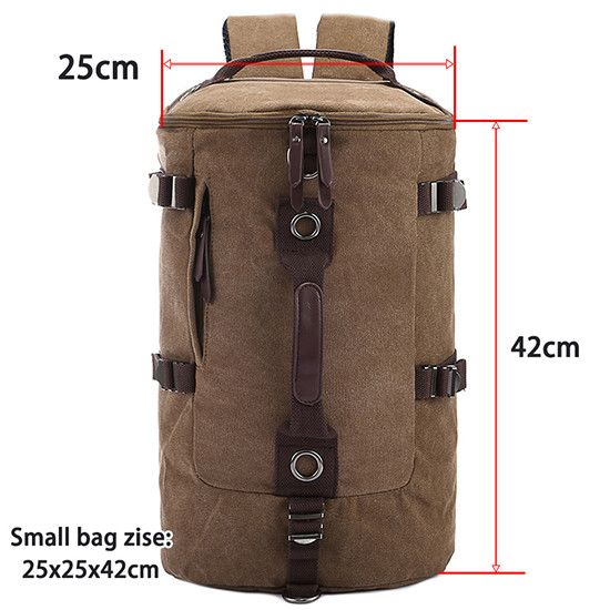 Large capacity man travel bag mountaineering backpack men bags canvas bucket shoulder bag 012