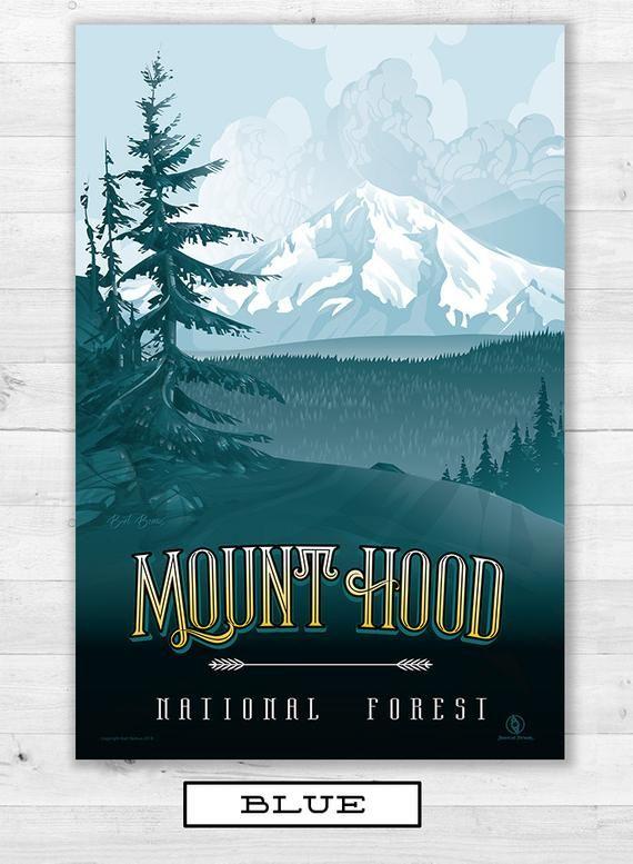 Mount Hood Oregon Mount Hood Poster Wall Art Mountain Art Mountain Decor Mount Hood Mt Hood Mt Mt Hood Poster Mountain Decor Mountain Art Poster Wall