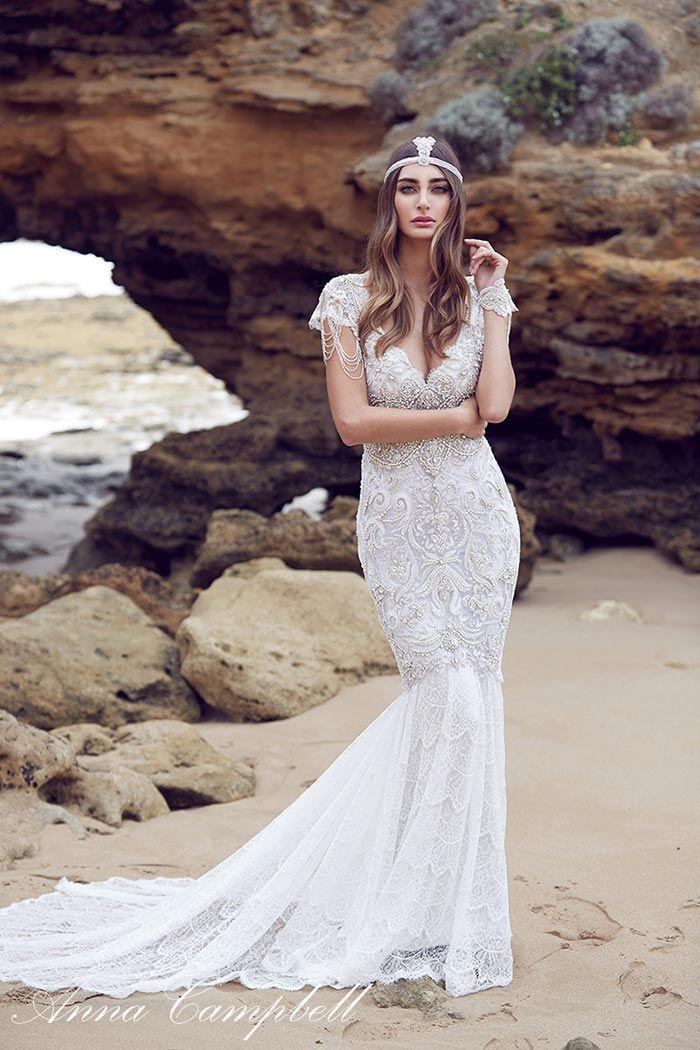 Vestido de noiva com cauda - praia
