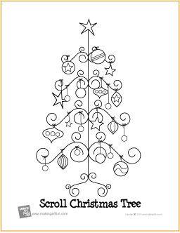 Scroll Christmas Tree | Free Coloring Page - http://makingartfun.com/htm/f-maf-printit/scroll-christmas-tree-coloring-page.htm