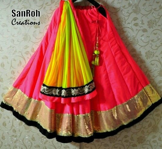 Designer traditional leheng choli semi stitch lehenga ghagra saree suit dress