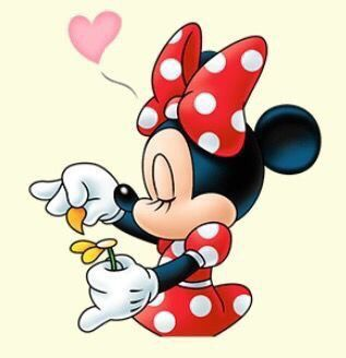 Mickey loves me, Mickey loves me not.  Minnie actually loves Mickey!