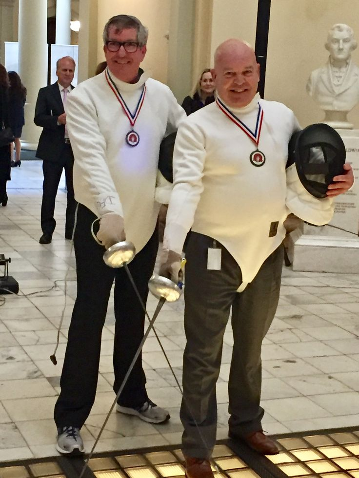 Our DFC Fencers of the Week are Representative Tom Taylor and Senator Mike Dugan who dueled in the State Capitol Rotunda to show support for our sport *Thank you*