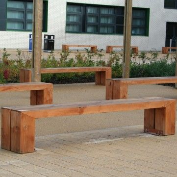 Deacon Timber Bench. Manufactured from treated iroko hardwood timber complete…