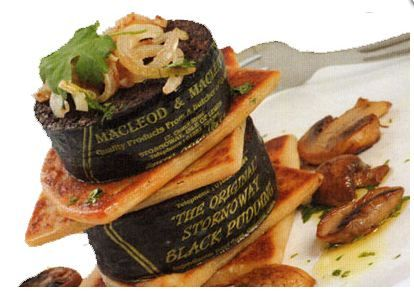 A tasty Stornoway Black Pudding dish